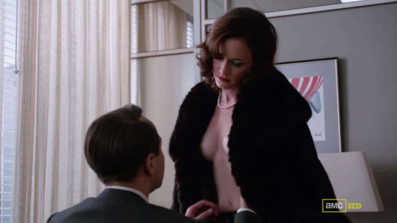 Masturbating gif redhead from mad men nude porn tits