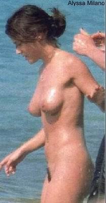 Fotos de Alyssa Milano desnuda, tetas, pezon, culo,