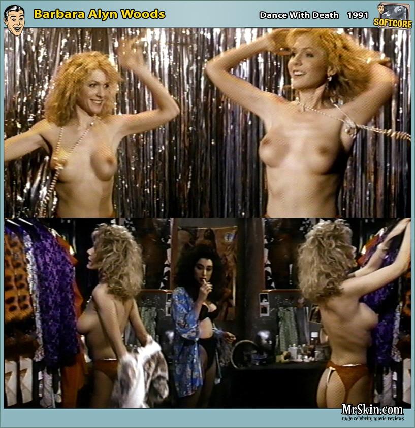 Barbara alyn woods naked, girl using double headed dildo