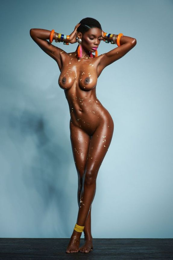 Topless selfie girl