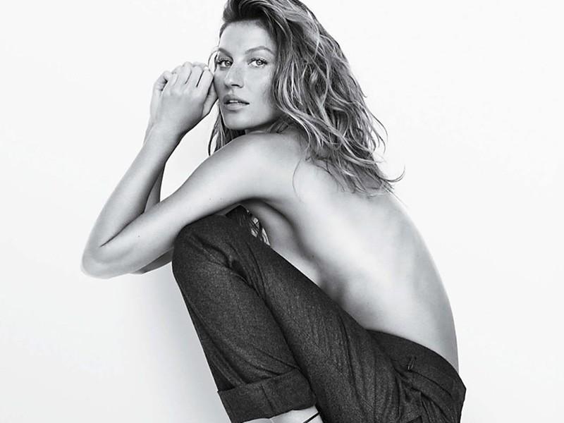 Gisele Bndchen posa completamente desnuda para la