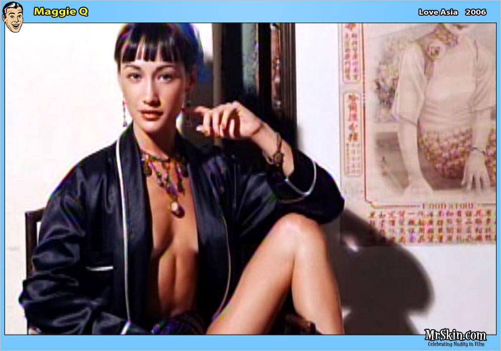 Maggie Q fotos video desnuda bikini biografia