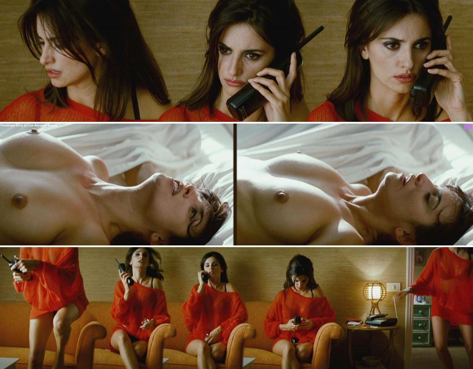 Penelope cruz shows off sexy curves on set