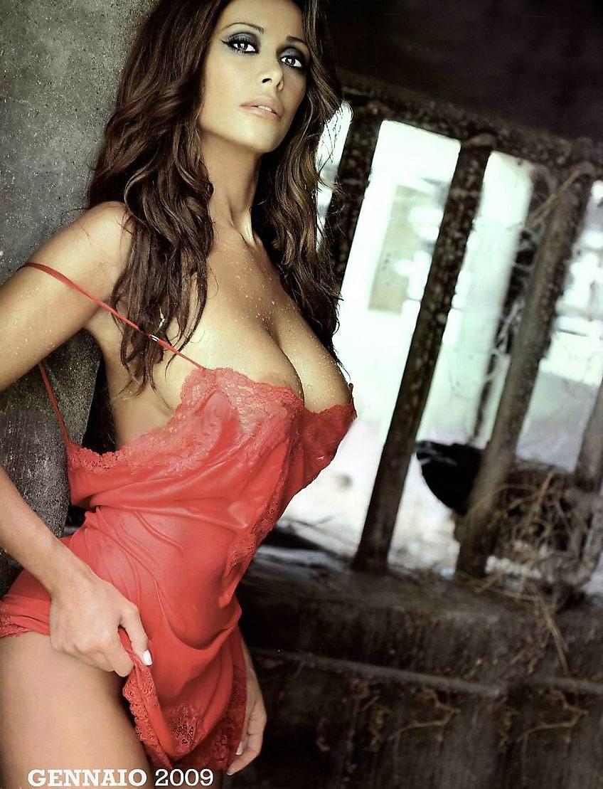 Portrait Sexy Italian Woman Stock Photo