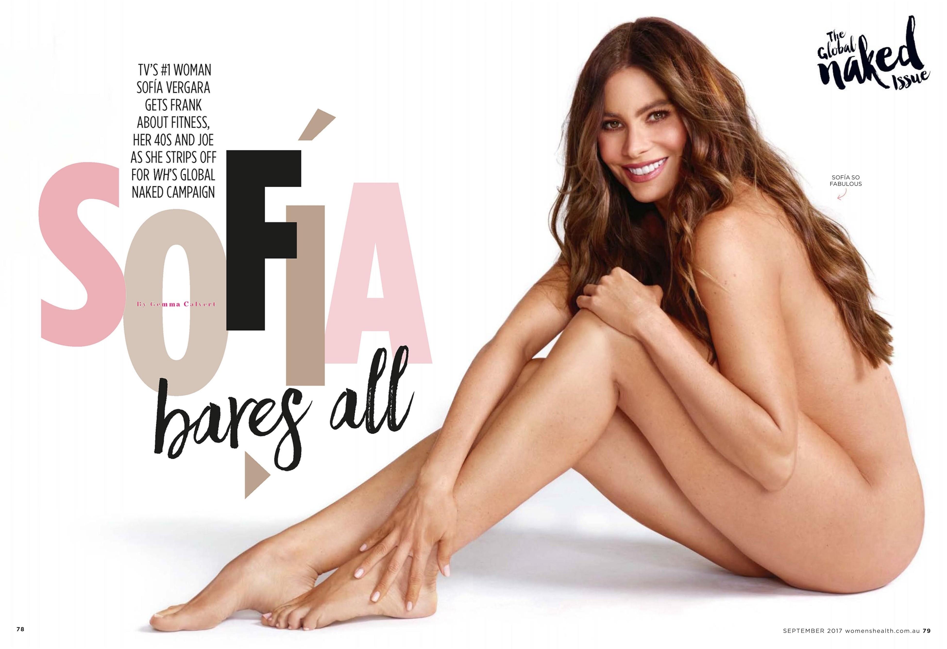 Sofia vergara poses completely nude for women's health, reveals joe manganiello's reaction