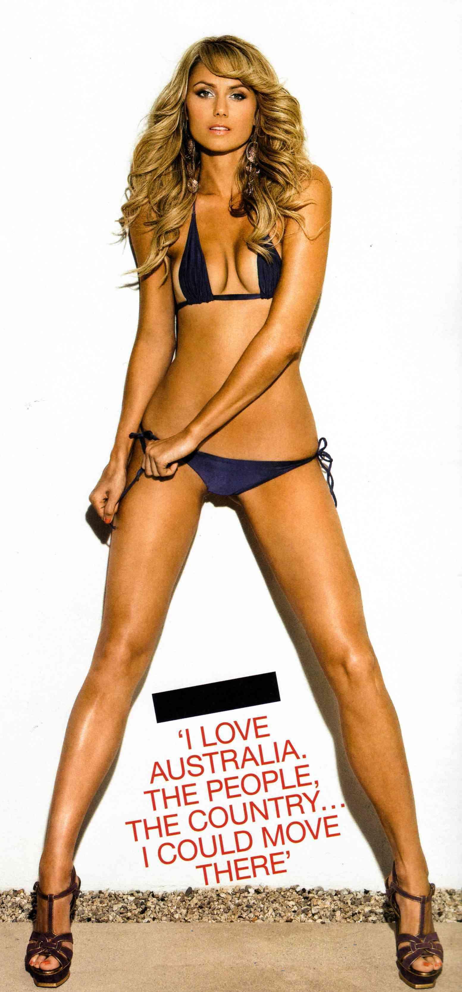 Fotos de la luchadora Stacey Keibler desnuda