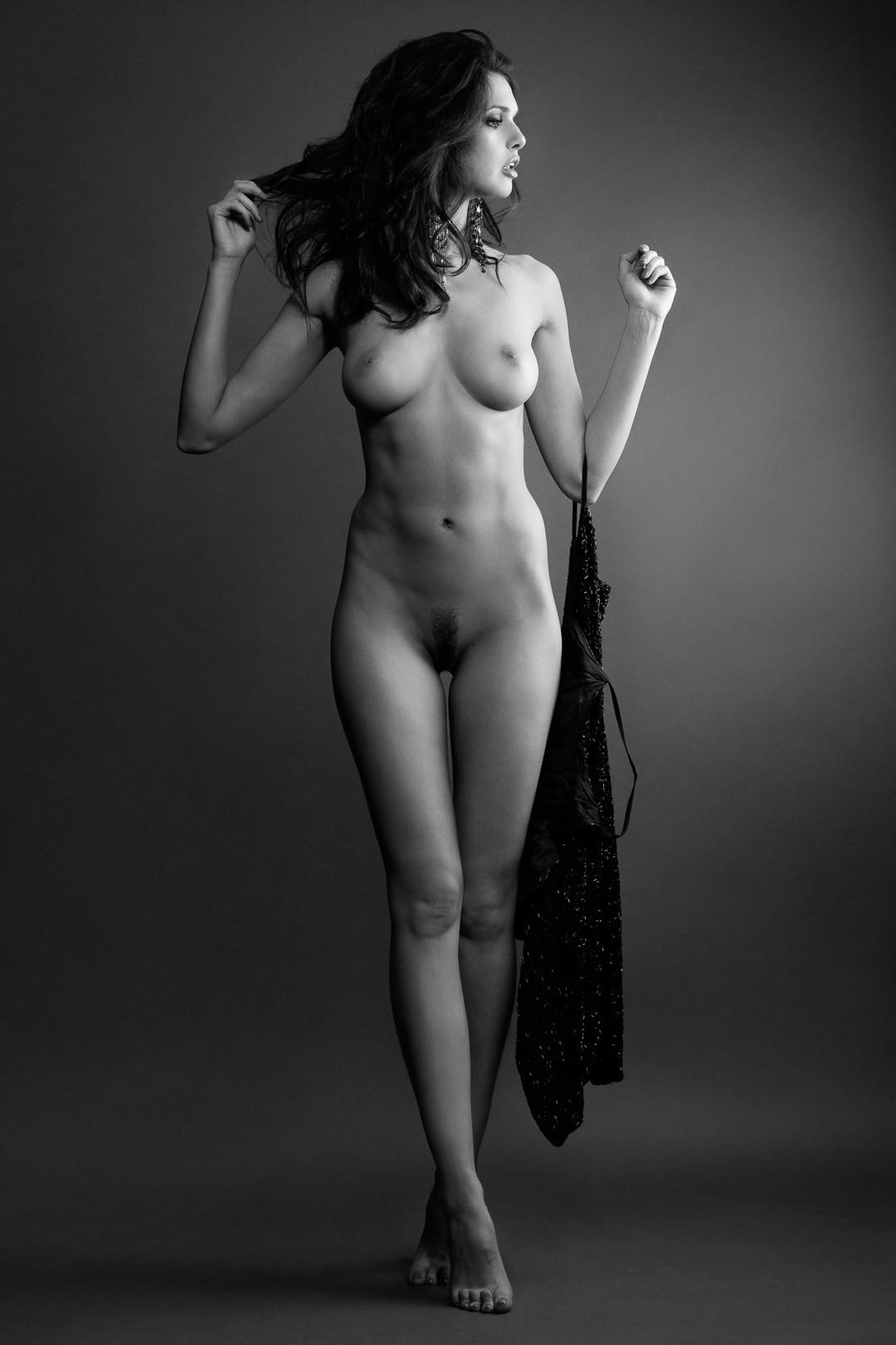 Beautiful Young Woman Clean Skin Nude Stock Photo