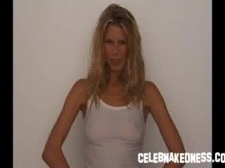 Video Claudia Schiffer See Through To Breasts In Sheer Top