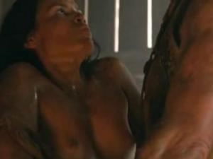 Video Katrina Law Topless Spartacus