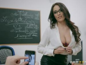 Video Brazzers - Naughty French Teacher Anissa Kate Loves Anal