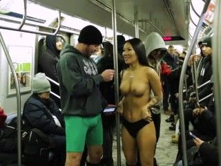 Video No Pants Subway Ride Challenge With Asa Akira And Subway Creatures