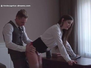 Video Mistreated During Job Interview - Little Caprice, Alina Henessy, Marcello