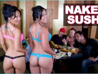 Video Bangbros - Naked Sushi With Asian Pornstar Asa Akira And Tasha Lynn